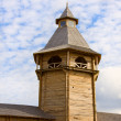 Medieval wooden guard tower — Stock Photo