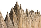 Ancient wooden fence — Stock Photo