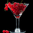 Currant bunch in glass — Stock Photo #35176883