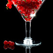 Wine glass full of red currant — Stock Photo #35176909