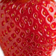 Macro of ripe strawberry — Stock Photo