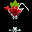 Red currant in wineglass — Stock Photo #35178185