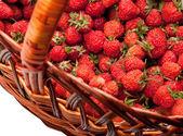 Strawberry basket detail — Stock Photo