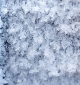 Hoarfrost background — Stock Photo