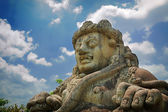 Male figure of Dwarapala Statue — Stock Photo