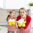 Blowing Foam -Fun In The Kitchen — Stock Photo #29570931