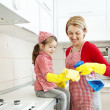 Stock Photo: Cleaning Together