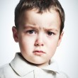 Portrait of a little boy crying — Stock Photo
