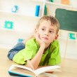Foto Stock: Boy Reading