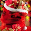 Santa's sack — Stock Photo