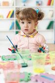 Schilderij meisje — Stockfoto