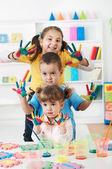 Bambino dipinto — Foto Stock