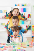 Child Painting — 图库照片