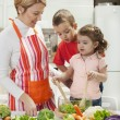 Happy Family is cooking — Stock Photo