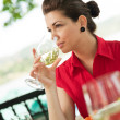 Wine toast — Stock Photo