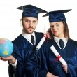 Graduation Couple — Stock Photo
