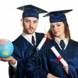 Graduation Couple — Stock Photo
