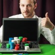 Poker Online — Stock Photo