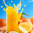Stock Photo: Orange juice splash