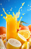 Orange juice splash — Stock Photo