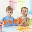 Creativity lesson(preschool activity) — Stock Photo #29831045
