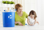Recycling toghether — Stock Photo