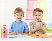 Creativity lesson(preschool activity) — Stok fotoğraf