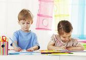 Kinderen tekenen — Stockfoto