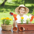 Gardening woman — Stock Photo