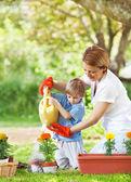 Gardening toghether — Stock Photo