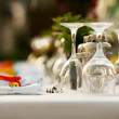 Table appointments at outdoor restaurant — Stock Photo