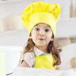 Sweet Girl - little chef — Stock Photo
