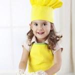 可爱的姑娘-小厨师 — 图库照片