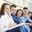 Teenagers sitting on free time — Stock Photo #31119177
