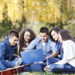 Teenagers in park — Stock Photo