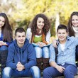 Teenagers free time together — Stock Photo