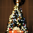 Gifts and christmas tree — Stockfoto