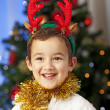 Christmas Portrait of boy — Stock Photo