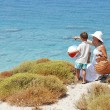 Stock Photo: Way To The Beach. Mother and son