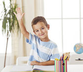 Student Raising His Hand — Stock Photo