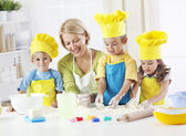Little bakers having fun — Stockfoto