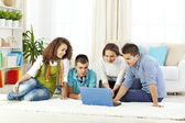 Teenagers free time — Stock Photo