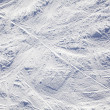 Ski tracks background — Stock Photo
