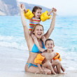 Family Summer Fun — Stock Photo