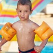 Smiling Little Swimmer — Stock Photo
