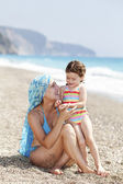 Summer Time Together - mom and daughter — Stok fotoğraf