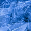 Shattered thin layers of cool blue ice sheets. — Foto Stock