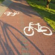 Bike path with a symbol of bike. — Stock Photo