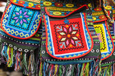 Ethnic decorated bag. — Stock Photo
