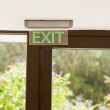 Emergency exit sign. — Stock Photo